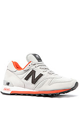 The Made in USA 1300 Sneaker in Grey & Orange