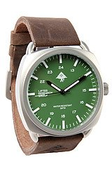 The Backwoods Watch in Anti Silver & Green