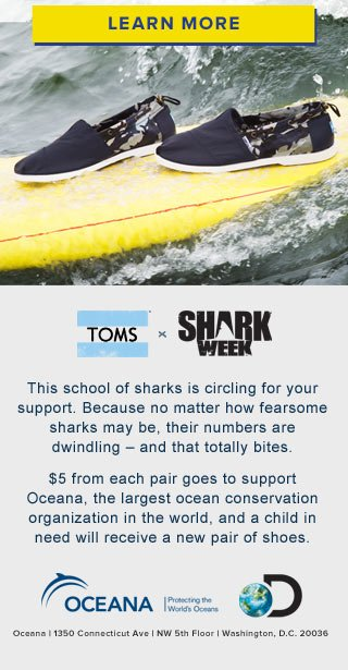 TOMS x Shark Week - Learn More