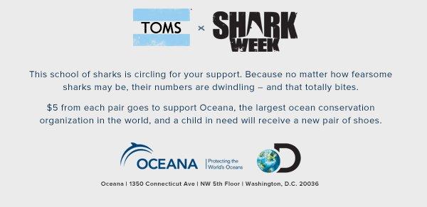 TOMS x Shark Week
