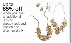 Up to 65% off when you take an additional 30% off already-reduced fashion and silver jewelry. Shop now.