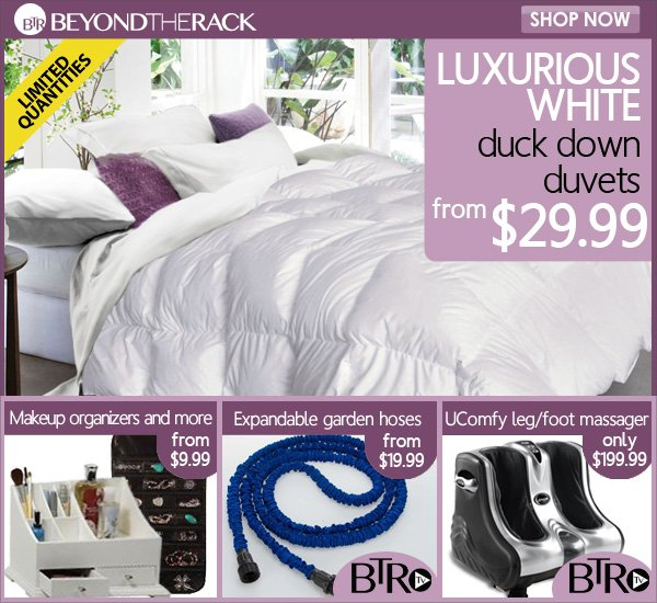 Luxurious White Duck Down Duvets
