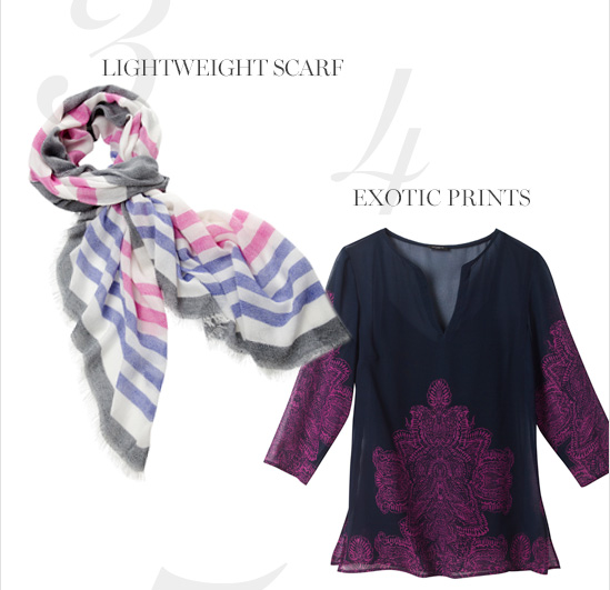 Lightweight Scarf Exotic Prints