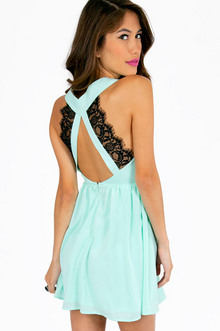 DEEP V LACE BACK DRESS 26