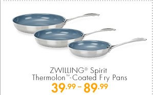 ZWILLING® Spirit Thermolon™-Coated Fry Pans 39.99-89.99