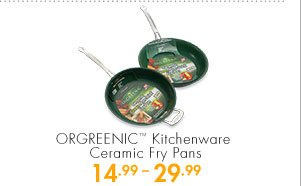 ORGREENIC™ Kitchenware Ceramic Fry Pans 14.99-29.99