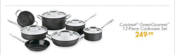 Cuisinart® GreenGourmet™ 12-Piece Cookware Set 249.99