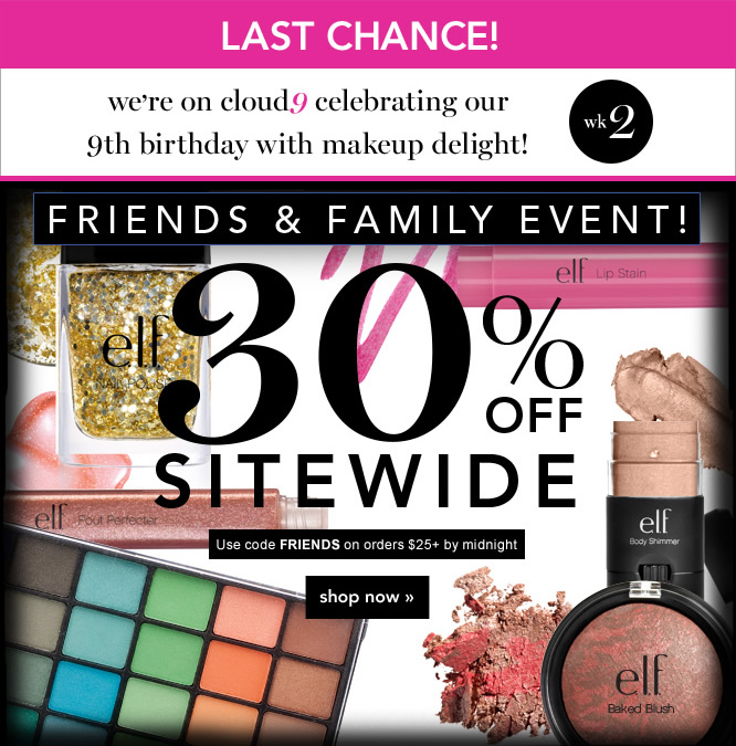 Friends and Family Event. 30% OFF Sitewide - shop now