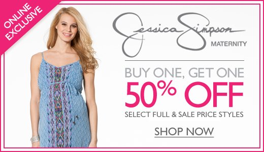 Jessica Simpson Maternity - Buy One Get One 50% Off Select Styles