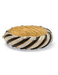 Crystal Striped Bangle Bracelet by Palm Beach Jewelry