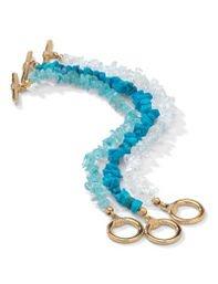 Genuine 3-Piece Multi-Gem Bracelet by Palm Beach Jewelry