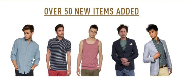 Over 50 New Items Added