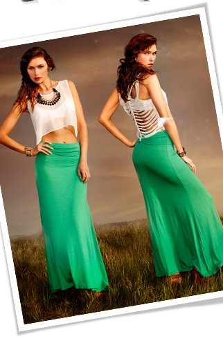 Shop The Knit Foldover Maxi Skirt