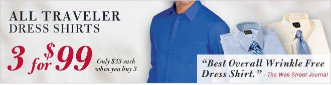 All Traveler Dress Shirts - 3 for $99
