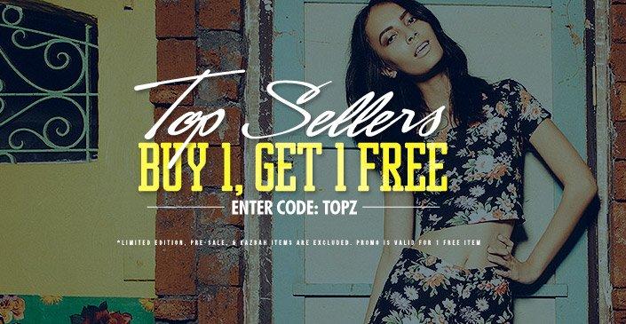Top Sellers Buy 1, Get 1 Free