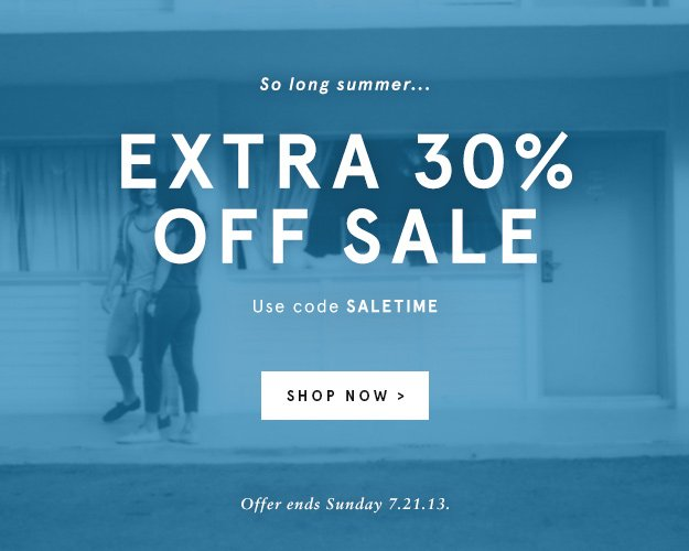 Summer Sale: Extra 30% Off