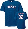 Josh Hamilton Majestic Name and Number Royal Texas Rangers T-Shirt