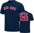 Adrian Gonzalez Majestic Navy Name and Number Boston Red Sox T-Shirt