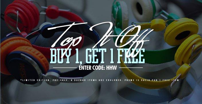 Hats, Headphones & Watches: Buy 1, Get 1 Free