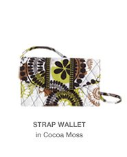 Strap Wallet in Cocoa Moss