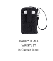 Carry It All Wristlet in Classic Black