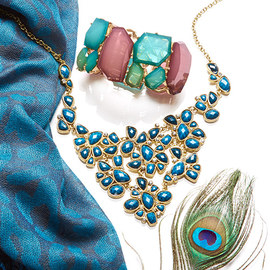 Peacock Hues: Accessories