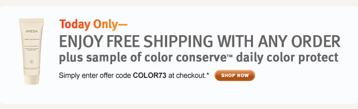 enjoy free shipping with any order plus sample of color conserve daily color protect. shop now.