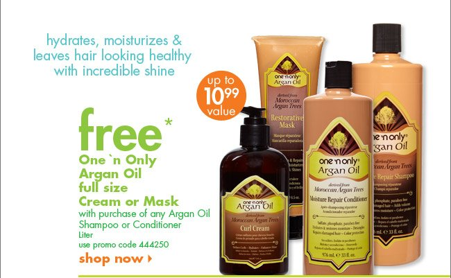free* One 'n Only Argan Oil full size Cream or Mask
