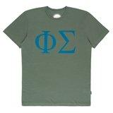Green Phi Sigma Print T-Shirt