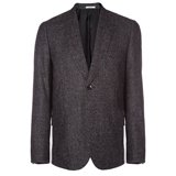 Grey Alpaca Wool-Blend Tweed Jacket