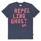 Navy Repelling Ghosts Print T-Shirt