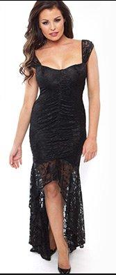 Jessica Wright Leila Lace Midi Dress