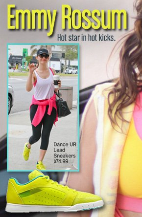 Emmy Rossum Hot star in hot kicks. Dance UR Lead Sneakers