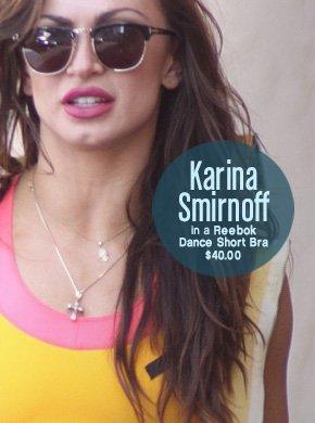 Karina Smirnoff in a Reebok Dance Short Bra