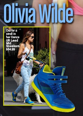Olivia Wilde Out for a stroll in her Dance UR Lead Mid Sneakers