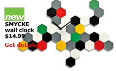 SMYCKE wall clock $14.99