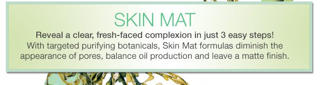 SKIN MAT Reveal a clear, fresh-faced complexion in just 3 easy steps!