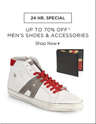 Up To 70% Off* Men's Shoes & Accessories