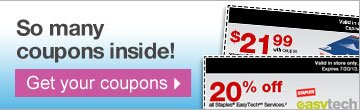 So many  coupons inside! Get your coupons.