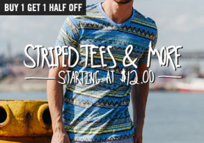Shop Get Striped Tees & More from $12