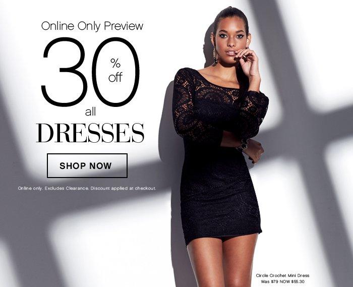 Shop 30% OFF Dresses