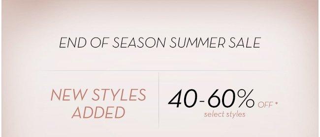 end of season summer sale | Shop Now