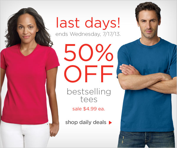50% off our Bestselling Tees