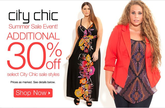 Additional 30% off select City Chic sale styles