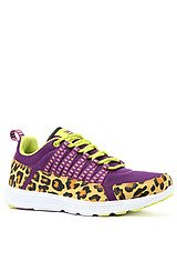 The Owen Sneaker in Purple Mesh and Cheetah Print