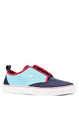 The Lacava Sneaker in Indigo, Sky, & Red