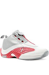 The Answer IV Sneaker in Grey & Flash Red