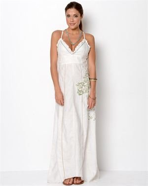 Replay Linen Maxi Dress- Made in Italy