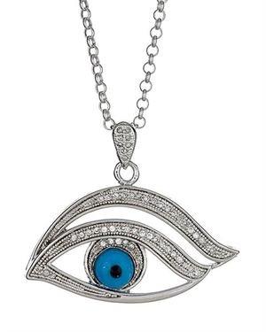 Yeidid Eye Diamond Sterling Silver Pendant