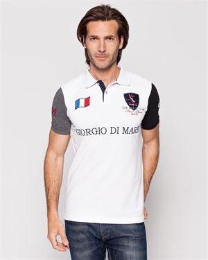 Giorgio Di Mare Color Block 100% Cotton Polo Shirt Made in Europe